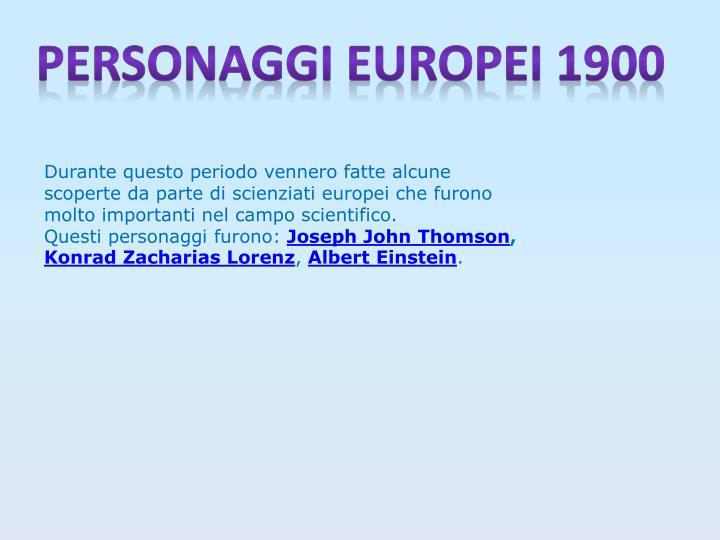 Personaggi europei 1900