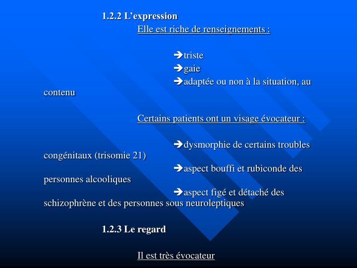 1.2.2 L'expression