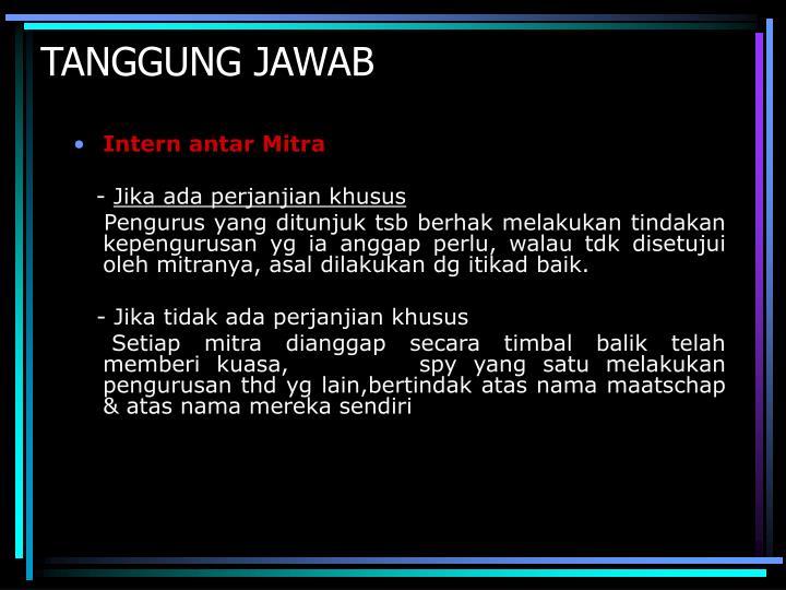 TANGGUNG JAWAB