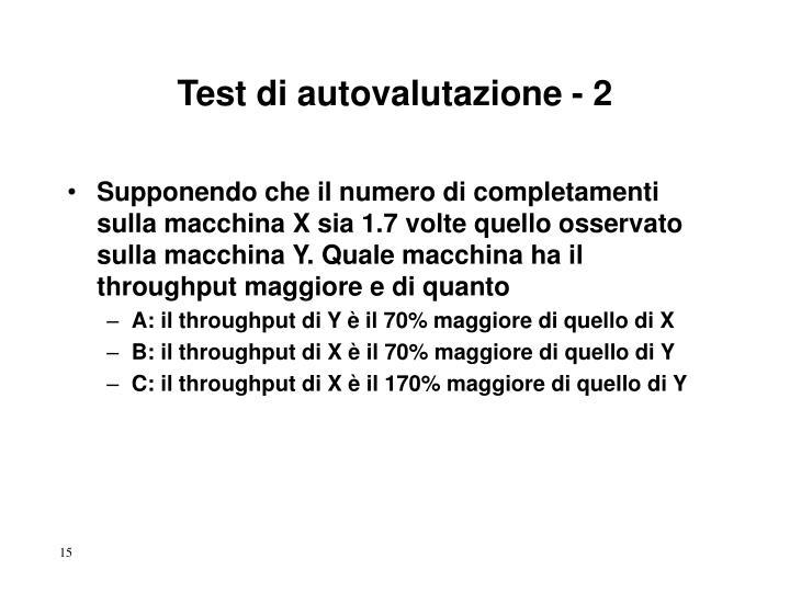 Test di autovalutazione - 2