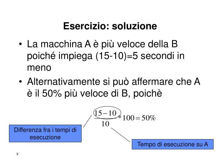 Esercizio: soluzione