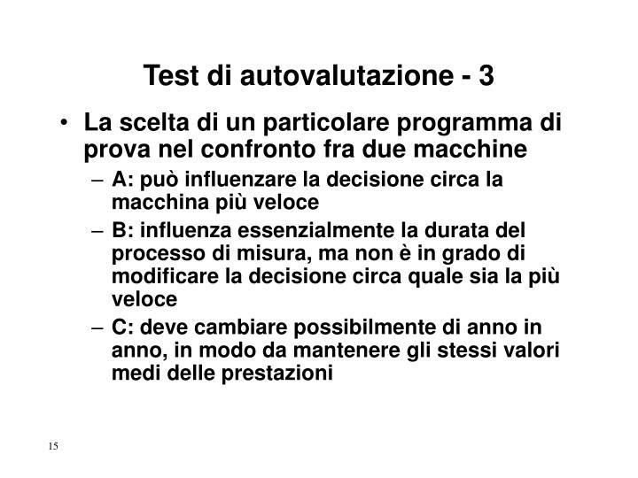Test di autovalutazione - 3