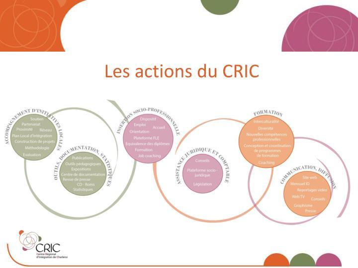 Les actions du CRIC