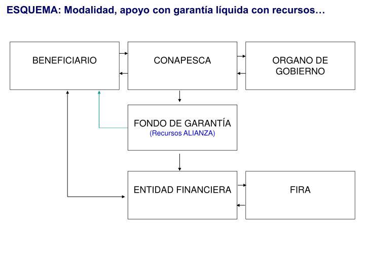 ESQUEMA: Modalidad, apoyo con garantía líquida con recursos…
