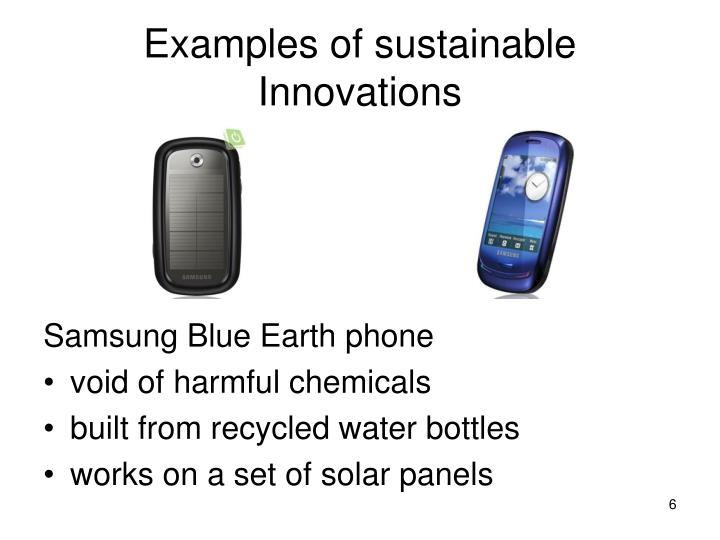 Examples of sustainable Innovations
