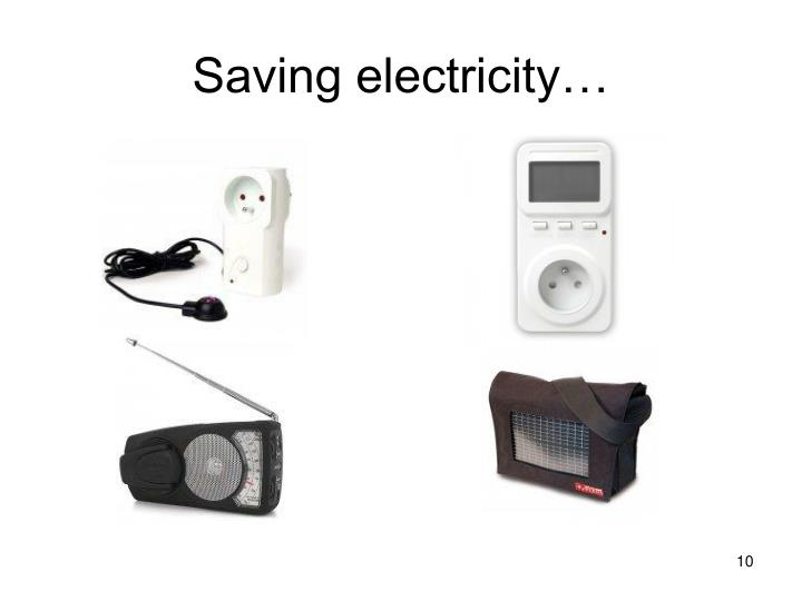 Saving electricity…