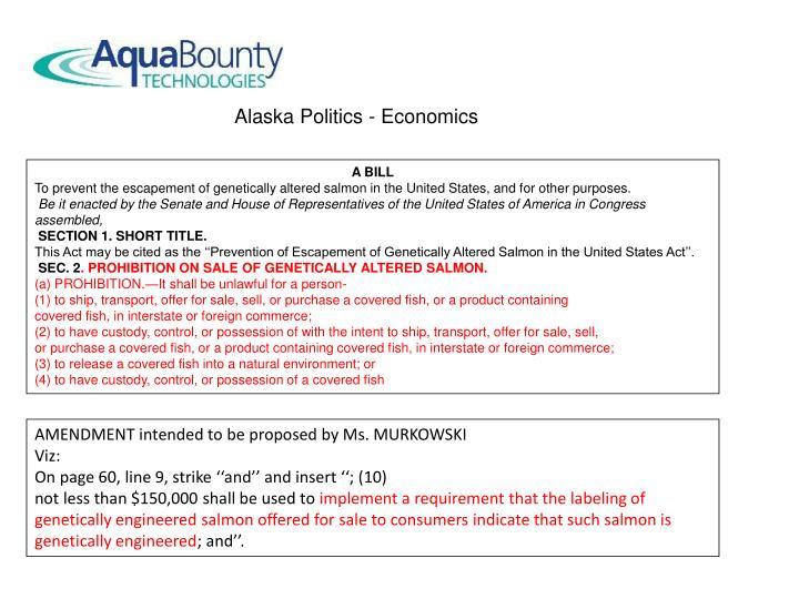 Alaska Politics - Economics