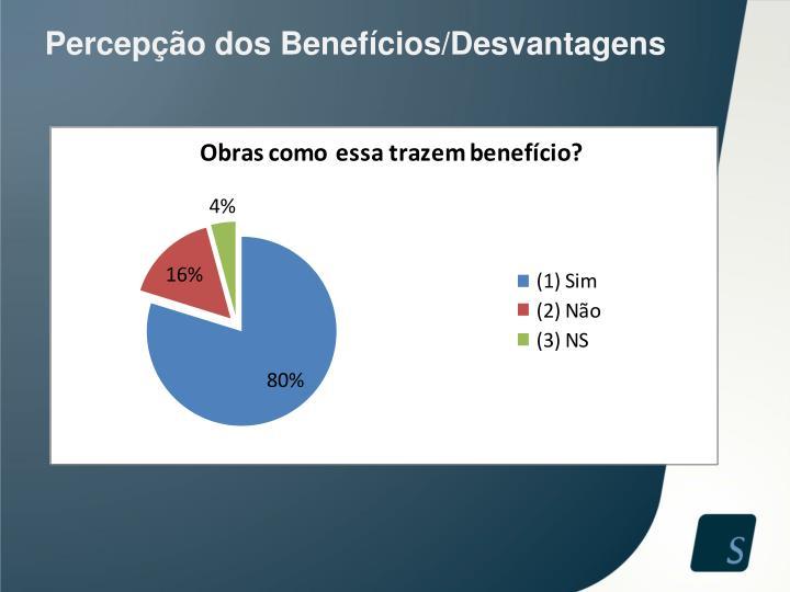 Percepção dos Benefícios/Desvantagens