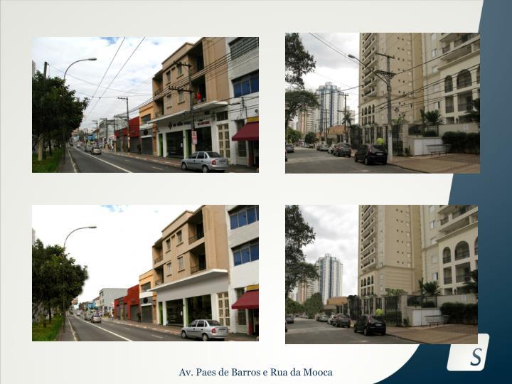 Av. Paes de Barros e Rua da Mooca