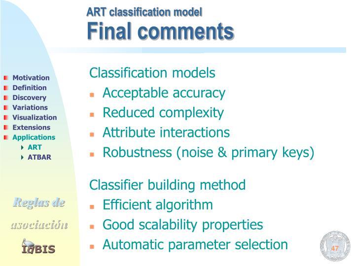 ART classification model