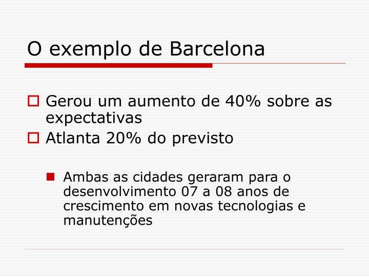 O exemplo de Barcelona