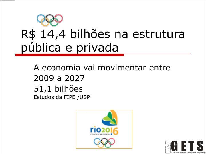 R$ 14,4 bilhões na estrutura