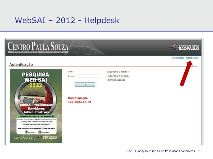 WebSAI – 2012 - Helpdesk