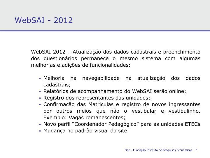 WebSAI - 2012
