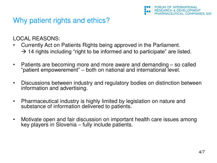 Why patient rights and ethics?