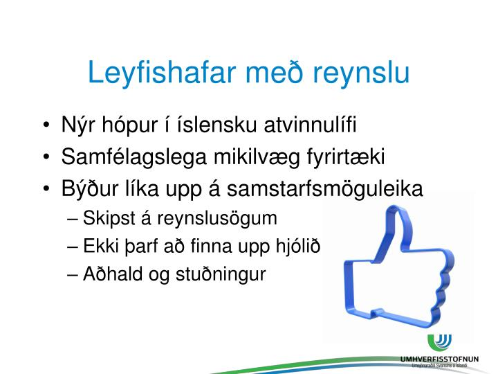 Leyfishafar með reynslu