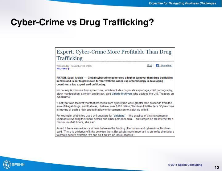 Cyber-Crime vs Drug Trafficking?