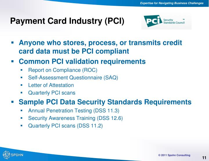 Payment Card Industry (PCI)