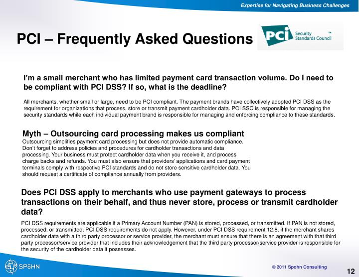 PCI – Frequently Asked Questions