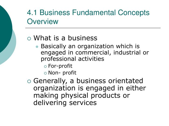 4 1 business fundamental concepts overview