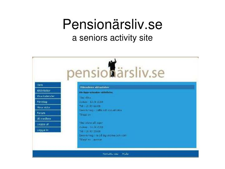 Pensionärsliv.se