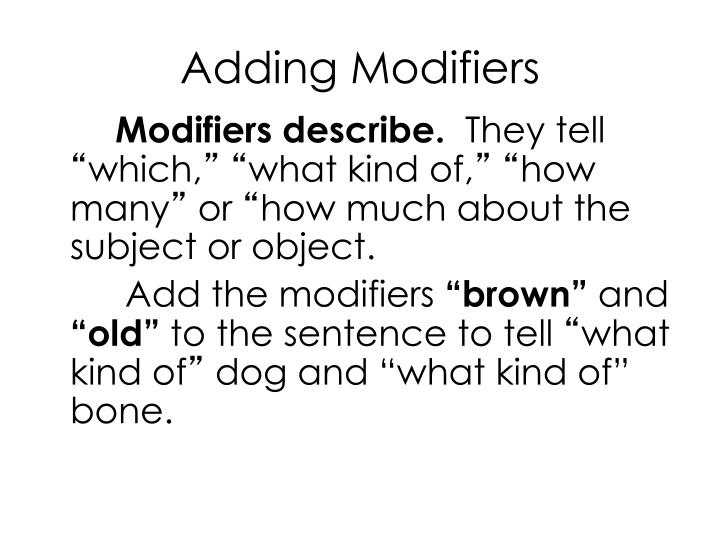 Adding Modifiers