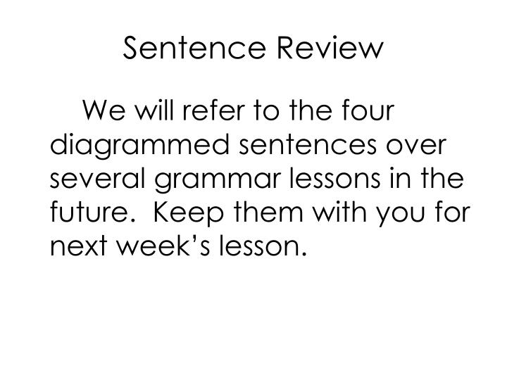 Sentence Review