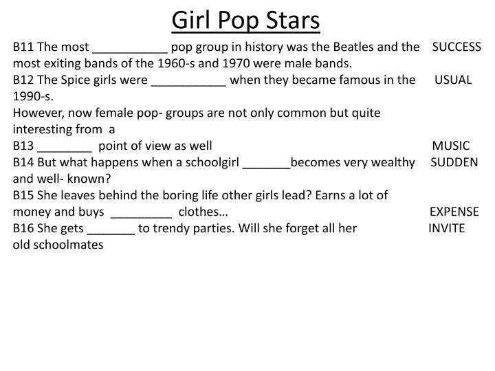 Girl Pop Stars