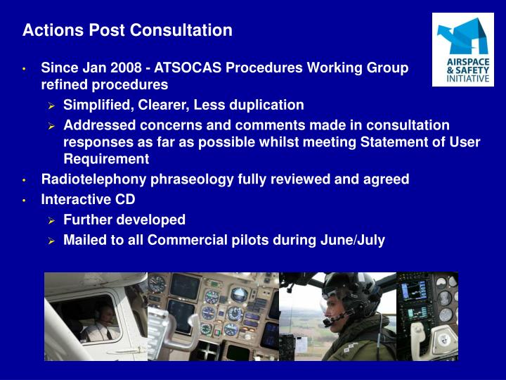 Actions Post Consultation
