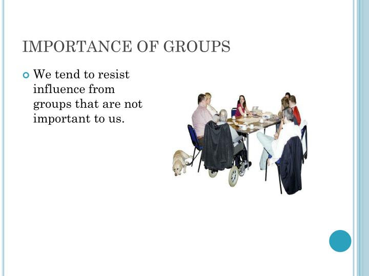 IMPORTANCE OF GROUPS