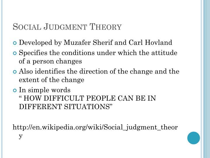 Social Judgment Theory