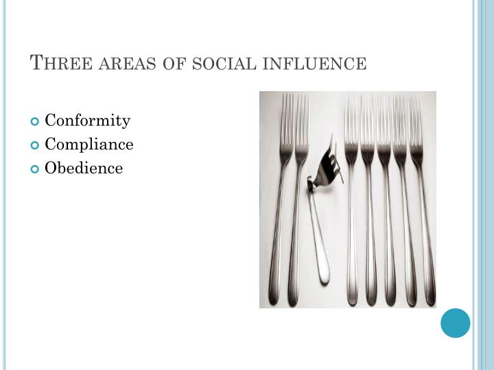 Three areas of social influence