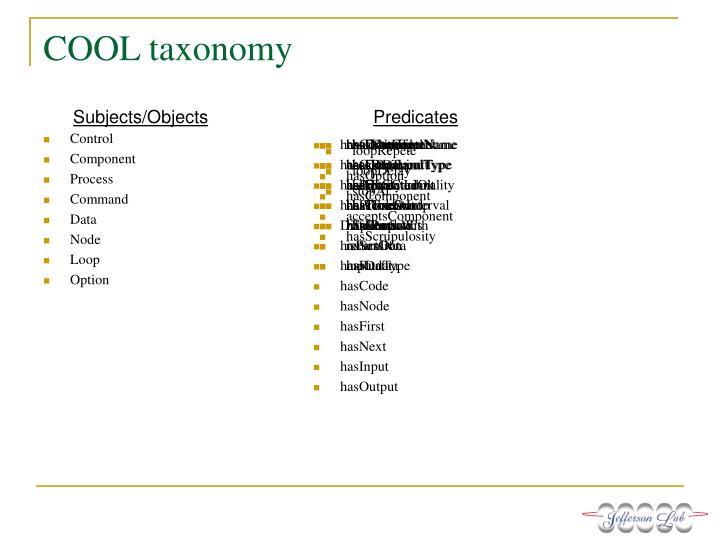 COOL taxonomy