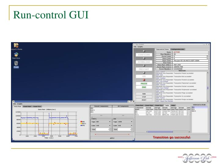 Run-control GUI