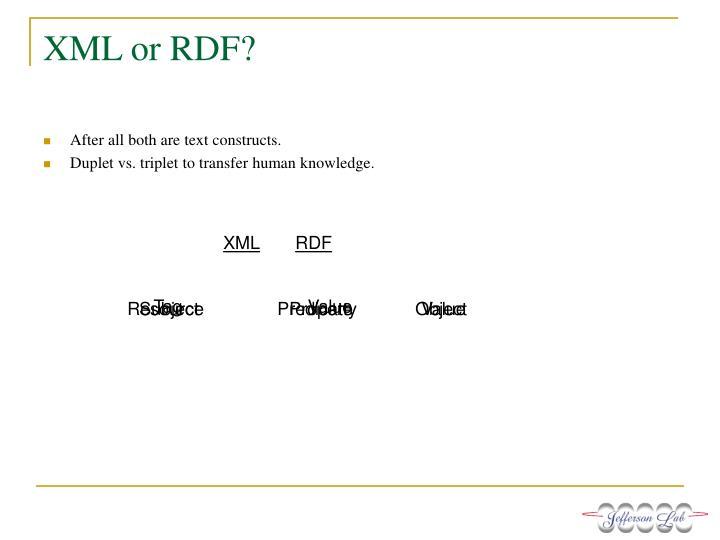 XML or RDF?