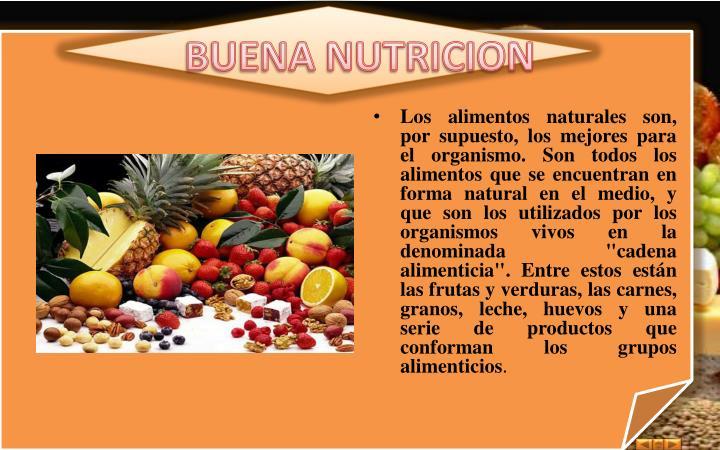 BUENA NUTRICION
