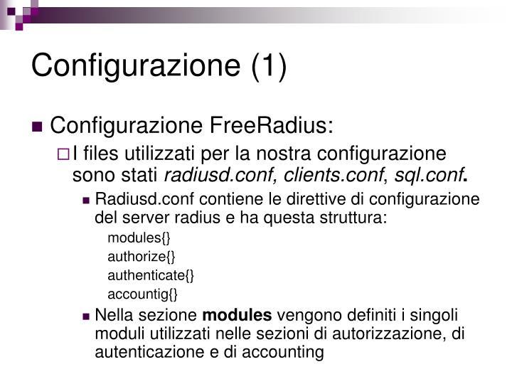 Configurazione (1)