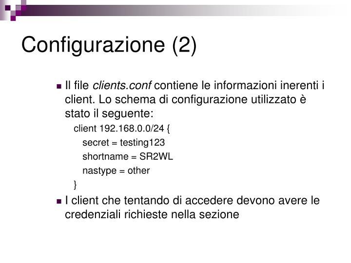 Configurazione (2)