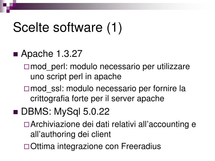Scelte software (1)