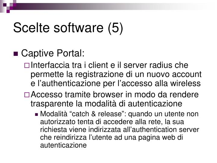Scelte software (5)