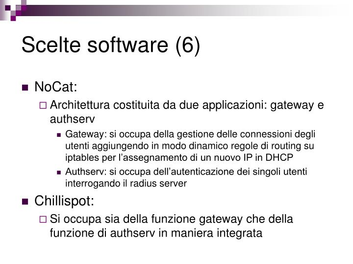 Scelte software (6)