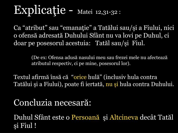 Explicaţie -