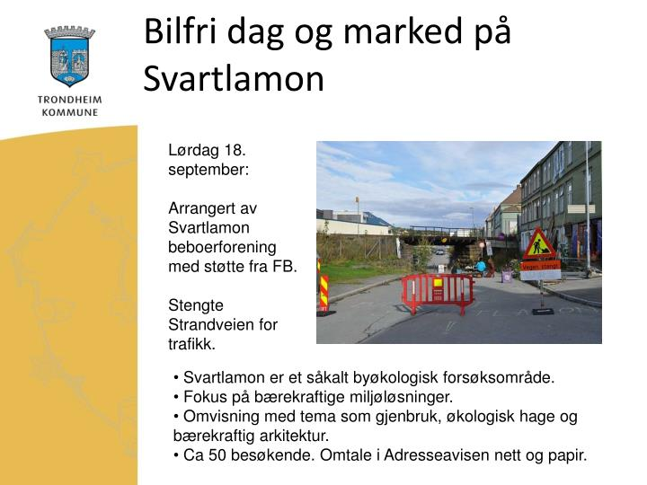 Bilfri dag og marked på Svartlamon