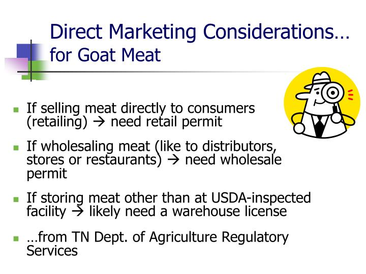 Direct Marketing Considerations…
