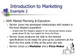 introduction to marketing example 2