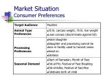 market situation consumer preferences1