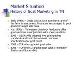 market situation history of goat marketing in tn