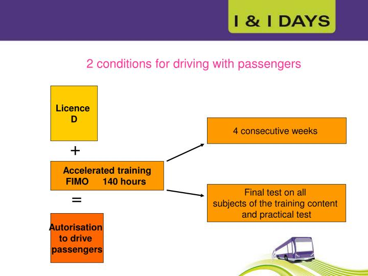 2 conditions for driving with passengers
