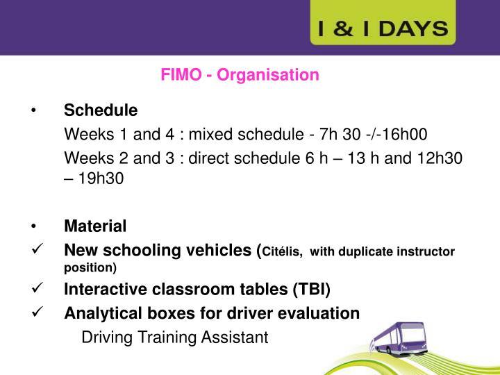 FIMO - Organisation