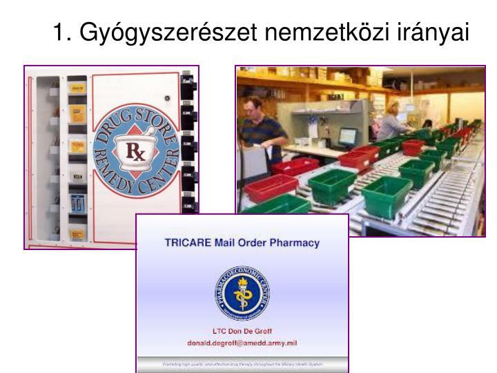 1. Gyógyszerészet nemzetközi irányai